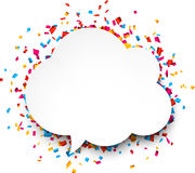 Confetti celebration background Royalty Free Stock Photos