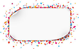 Confetti celebration background. Stock Photo