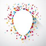 Confetti celebration background. Stock Image