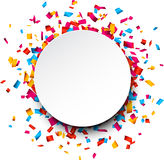 Confetti celebration background. Stock Photos