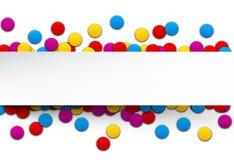 Confetti celebration background. Stock Photo
