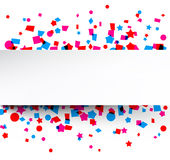 Confetti celebration background. Royalty Free Stock Photo