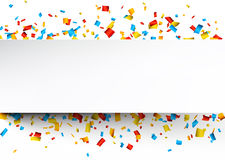 Confetti celebration background Stock Images
