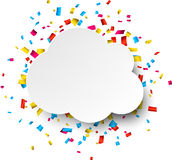 Confetti celebration background Royalty Free Stock Image