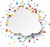 Confetti celebration background Royalty Free Stock Image