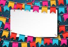 Confetti celebration background Stock Images