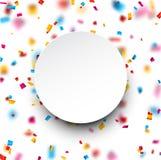 Confetti celebration background. Royalty Free Stock Photography