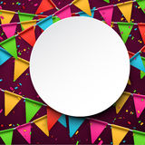 Confetti celebration background Stock Image