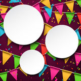 Confetti celebration background Royalty Free Stock Images