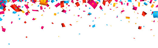 Confetti celebration banner Stock Images