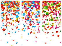 Confetti celebration banners. Royalty Free Stock Images