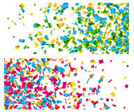 Confetti celebration banners. Stock Image