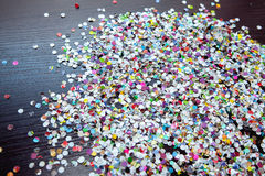 Confetti. After the celebration is on the floor Royalty Free Stock Images