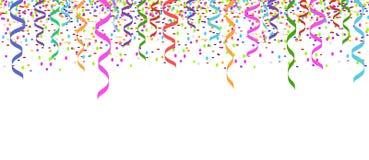 Confetti chodnikowa karty odosobniony tło Fotografia Royalty Free
