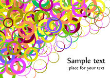 Confetti colorful background splash effect Stock Images