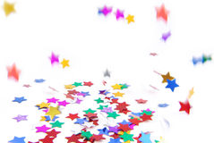 Confetti colorful flying Royalty Free Stock Images