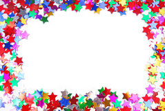 Confetti colorful frame Stock Photo