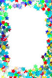 Confetti colorful frame border Royalty Free Stock Photography