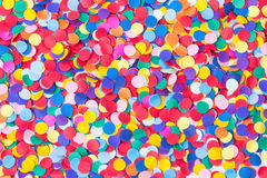 Confetti, colorful and round Royalty Free Stock Images