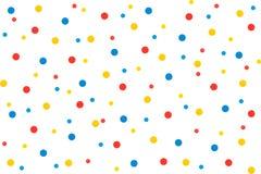 Confetti colorido isolado no fundo branco Fotografia de Stock