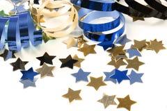 Confetti com flâmulas foto de stock royalty free