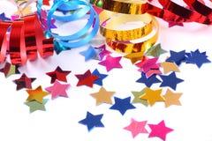 Confetti com flâmulas foto de stock
