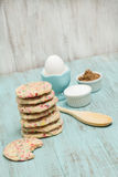 Confetti Cookies With Egg and Sugars Royalty Free Stock Image