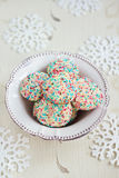 Confetti cookies and tea Royalty Free Stock Photography