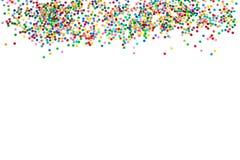 Confetti dekoracji tła wakacji biały sztandar zdjęcie stock