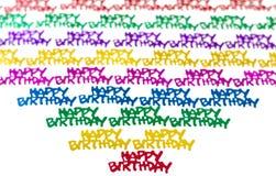 Confetti do feliz aniversario Imagens de Stock