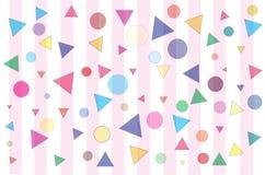 Confetti e listras Fotografia de Stock Royalty Free