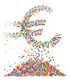 Confetti euro symbol Royalty Free Stock Images