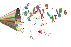 Confetti explosion Royalty Free Stock Images