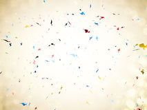 Confetti explosion on white background Royalty Free Stock Images