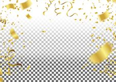 Confetti Falling On Background. Vector Illustration. element background for celebration decoration, vector Illustration royalty free illustration