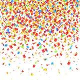 Confetti falling. Royalty Free Stock Image