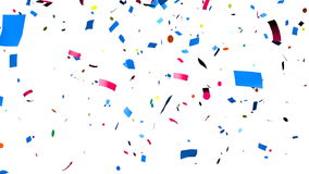 Confetti falling stock illustration