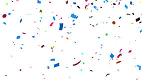 Confetti falling royalty free illustration