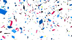 Confetti falling. Multi-colored confetti falling, holiday abstract background