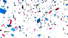 Confetti falling stock video footage