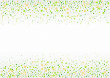 Confetti festive. Festive flying spring green confetti card on transparent background. Vector Illustration Royalty Free Stock Images
