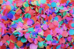 Confetti for festive occasions. Confetti or small pieces of colored papier for festive occasions Stock Photo