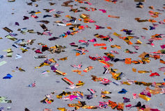 Confetti on the floor royalty free stock image