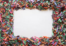 Confetti frame Royalty Free Stock Photo