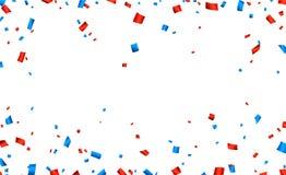 Confetti frame celebration banner Stock Photos