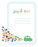Confetti frame design Royalty Free Stock Images
