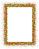 Confetti frame in red and green Royalty Free Stock Photos