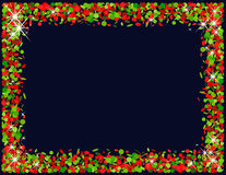Confetti frame in red and green Royalty Free Stock Image