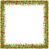 Confetti frame in red and green Stock Photos