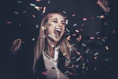 Confetti fun. Stock Photo